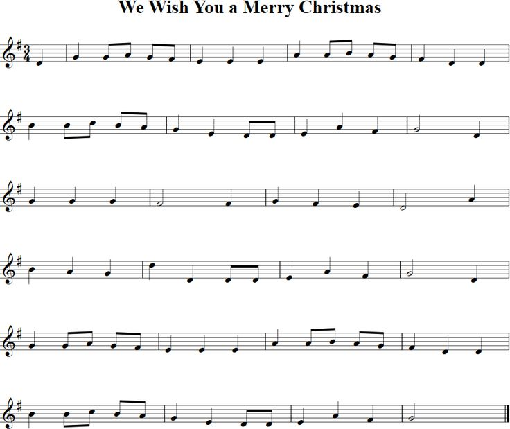 We Wish You a Merry Christmas Sheet Music for Violin