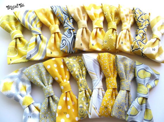 Noeuds papillon de hommes jaune Mix and par TangledTiesBowTies, $18.00