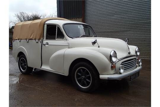 A 1969 Morris Minor Pick-Up, registration number SKR 131G, chassis number MAU5257925, cream. This