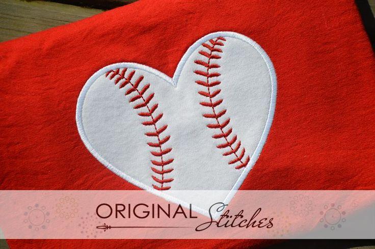 Heart Baseball, Machine Embroidery and Applique Designs Downloads | Original Stitches - Embroidery and Applique Design Store