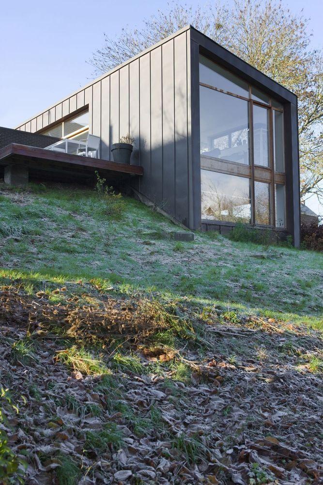 cette maison osée est pratiquement invisible depuis la rue - Quatre Architects - Belgique