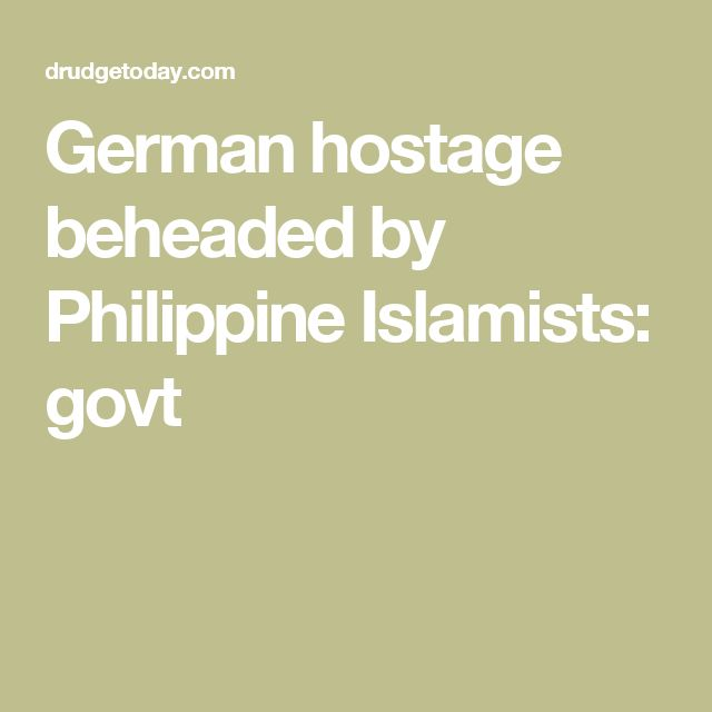 """German hostage beheaded by Philippine Islamists: More love from the """"religion of peace"""""""
