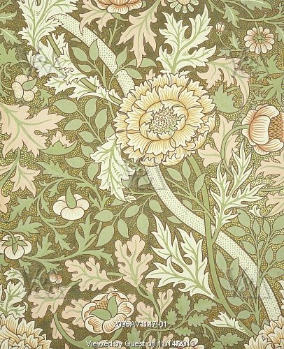 Norwich wallpaper, by William Morris. England, 1889