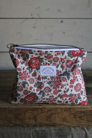 1930's era Floral Feed Sack Utility Pouch - FORESTBOUND