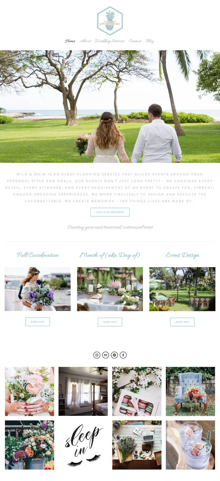 Website makeover I did for Wild & Whim. Wild & Whim is a small wedding planning business based in Tauranga, NZ. They had an existing site but needed an overhaul on their look and feel. I wanted to create a whimsical, romantic feel with soft colours reflecting their whimsical style. Design by Cheyney is a graphic design business based in Auckland New Zealand. DBC offers a range of services including web, logo, packaging, print design and more.