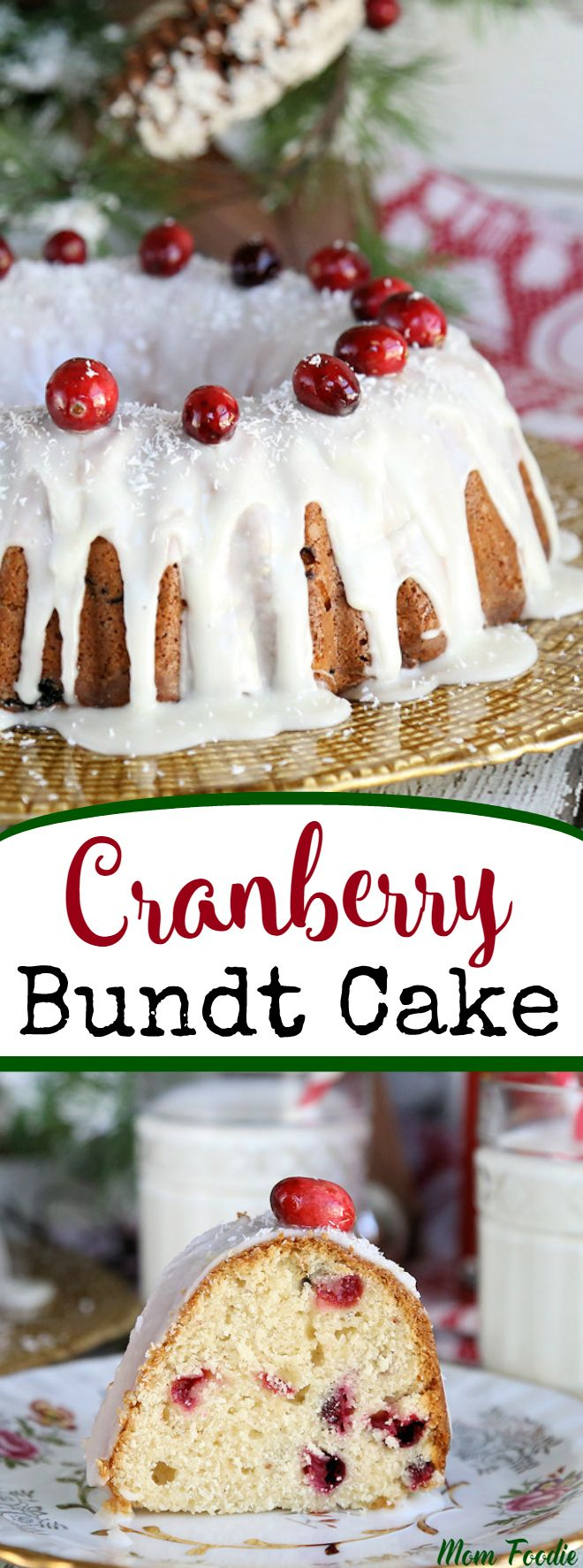 Cranberry Sour Cream Bundt Cake - Fresh Cranberry Cake Recipe  @horizonorganic  #HorizonHolidays #ad