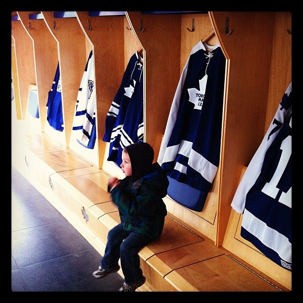 Young fan at the Leafs Mobile Fan Zone