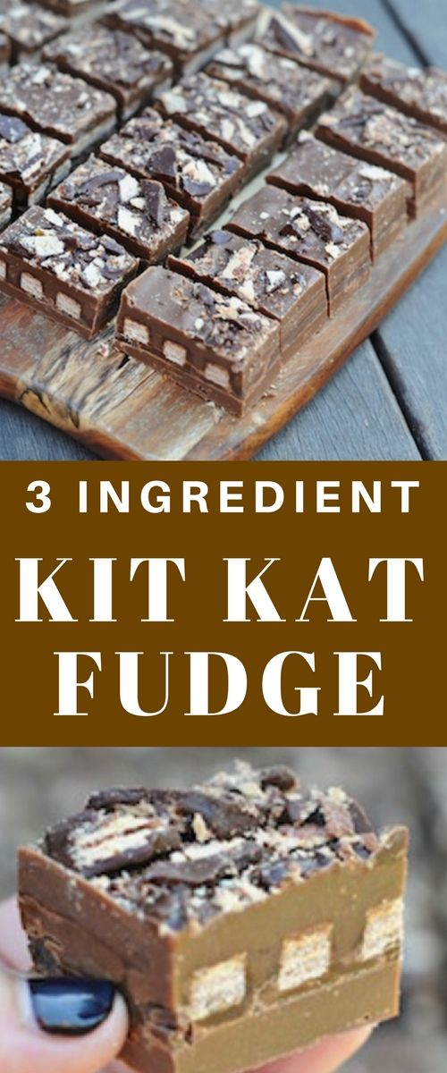 You are going to adore the simple 3 Ingredient Kit Kat Fudge Slice Recipe we have to share with you! It's easy, quick and delicious!