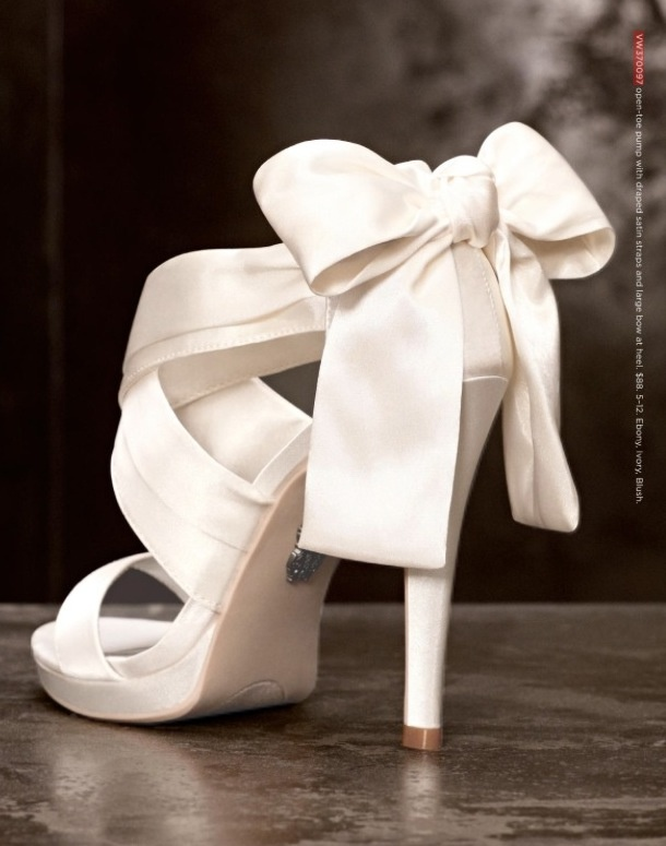From David's Bridal- I definitely want something like this but in a fun color!! Fun shoes under a gorgeous dress!!