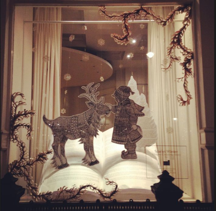 Christmas window display for The Mill: Paper sculpture, paper craft. http://www.scarlet-winter.com/the-mill-christmas