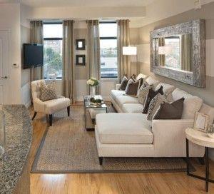 Ideas Para Decoracion Y Organizacion De Espacios Pequeños. Small Living Room  ...