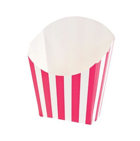Hot Pink Striped Chip Scoops (6) :   Fill with hot or cold food of your choice! Fill with confectionery! Fill with small novelties!