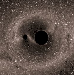 Two black holes merging - Funny GIFs
