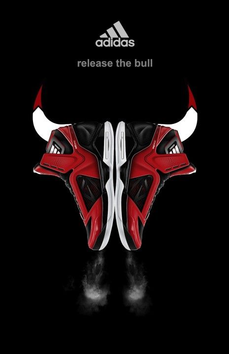 Derrick Rose Adidas Adizero Shoes Basketball Graphic Design Sports Branding Chicago Bulls Logo