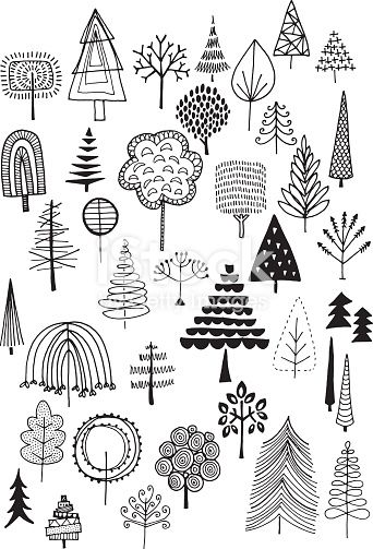 quirky drawing doodle drawn trees nature fun