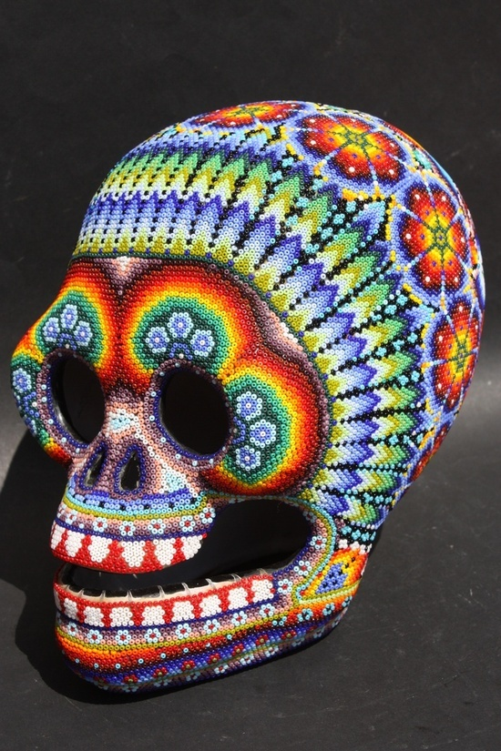 Huichol bead art, Mexico.