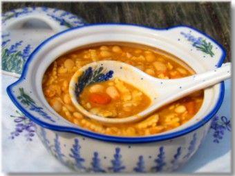 Croatian bean stew with pasta