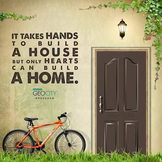 Inno GeoCity- Because, home is where the heart is. #realestate #home #quote
