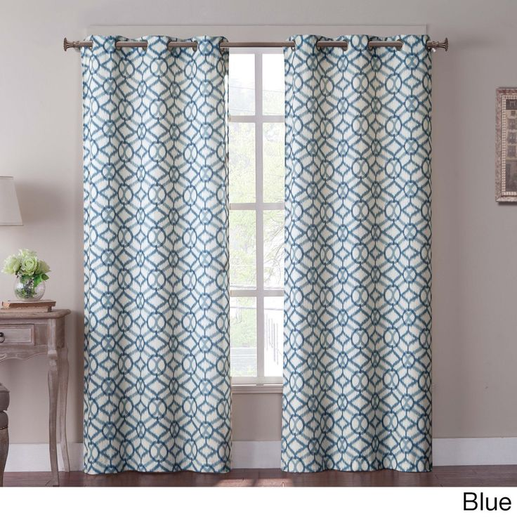 curtains for living room online shopping tanjiers ikat 84 inch grommet curtain panel pair 26962