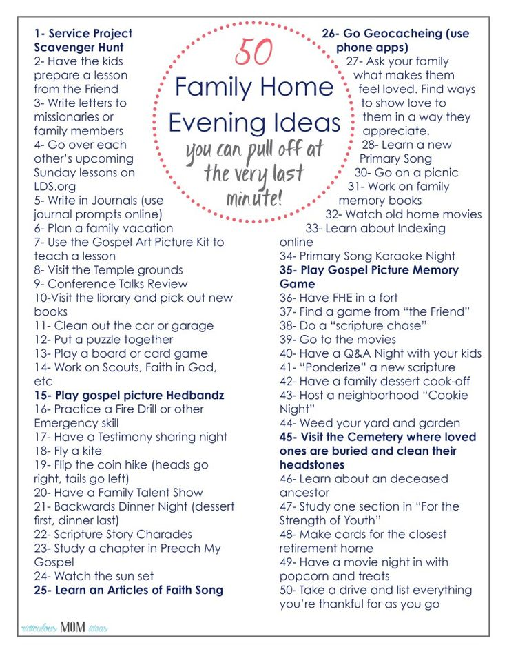 best 101 family home evening ideas on pinterest family home