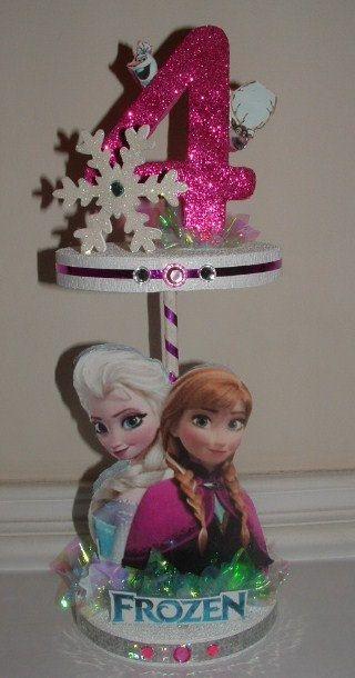 CONGELADOS Ana Elsa 2 nivel central con Olaf Sven 3D de por JKkidz
