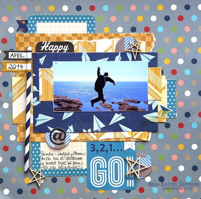 """Andrine og Marens Landhandleri - Blog - """"3,2,1 Go!"""" layout created by Dt Ann-Katrin."""