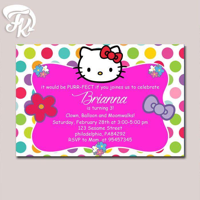 Best 25+ Hello Kitty Invitation Card Ideas On Pinterest