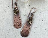 Gioielli di metallo misto Wire Wrap orecchino orecchino fatto a mano gioielli rame rustico gioielli di metallo monili di Boho rustico gioielli regalo per suoi orecchini