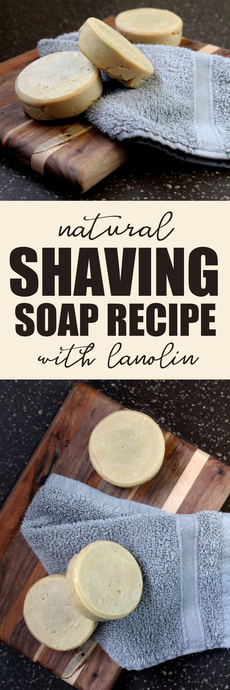 Natural Shaving Soap Recipe with Hydrating Lanolin and Neem Oil to Promote Skin Health! Making the switch to a natural shaving soap is a more environmentally friendly choice. This homemade shaving soap recipe with lanolin and neem oil is not only a great green alternative, but it's also budget conscience so you save money in the long run over purchasing a commercial product. #soap #shavingsoap #soapmaking #handmadesoap #artisansoap #diy #soapgifts #soapcrafting #soapshare #soaprecipes