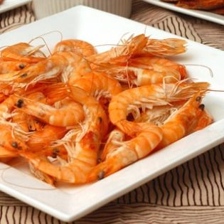Scampi in Oil and Lemon Sauce