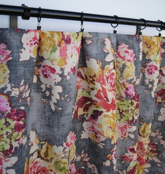 Floral Curtains Fabric As Seen On The Bachelor Grey Peach Pink