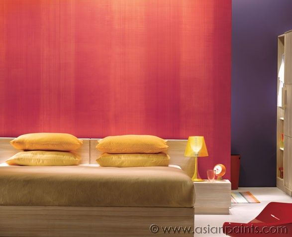 Royale Play for Bedroom Interiors Weaving: Base Coat-Azalea 8095, Base Coat-2-Muted scarlet 8167, Crimson depth X123 )