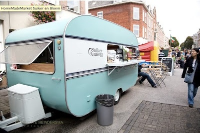 Retro trailer and food? Looks like awesome to me.
