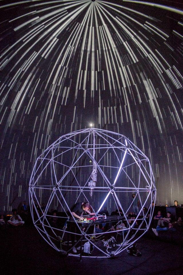 Electronic Music Sounds Better Inside an LED-Filled Geodesic Dome | The Creators Project