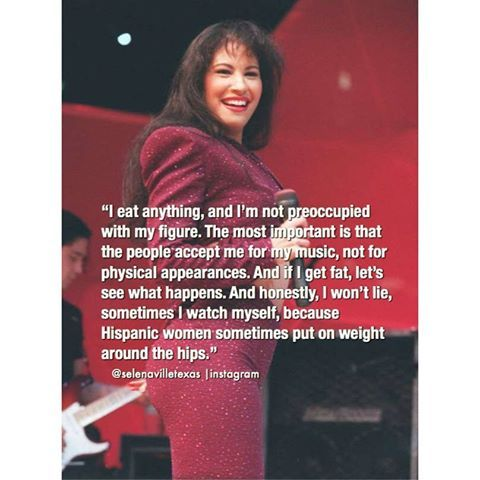 A rare quote about Selena Quintanilla talking about her amazing body