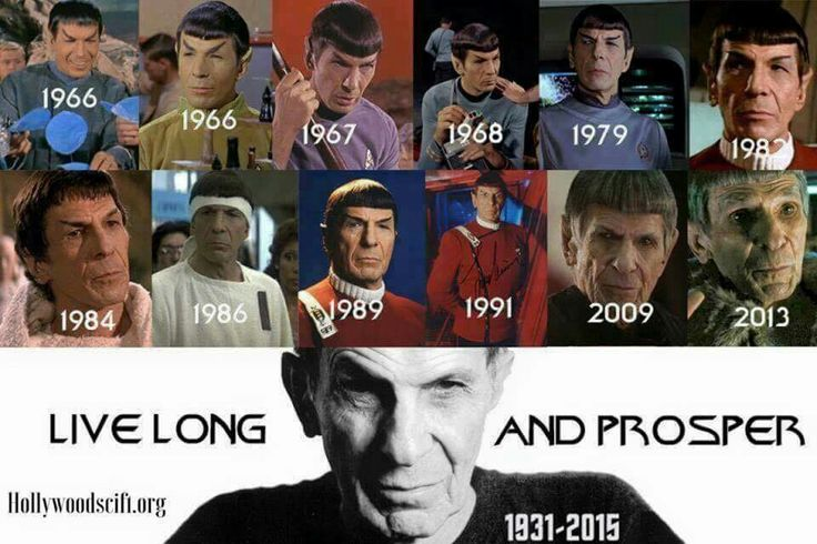 Mr. Spock through the years.  LLAP