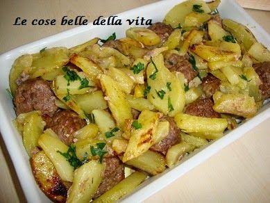Le Cose Belle della Vita: Polpette con patate al forno