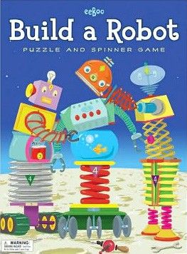 Eeboo - Spinner Game Build a Robot How fun! Looks like a great way to stimulate those neural pathways. #EntopyWishList #PinToWin