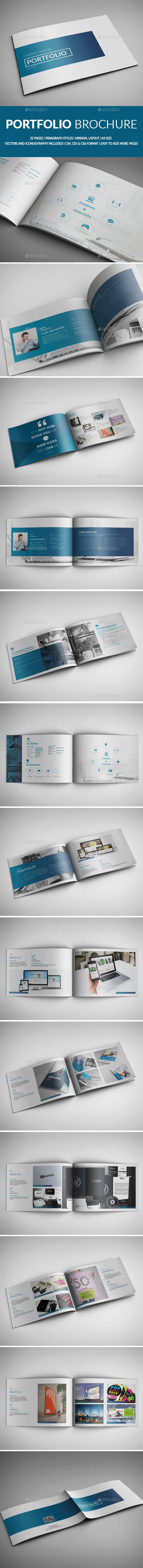 Portfolio Brochure Template InDesign INDD #design Download: http://graphicriver.net/item/portfolio-template/13485486?ref=ksioks