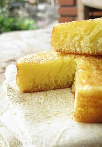 bika ambon (Indonesian honeycomb cake)