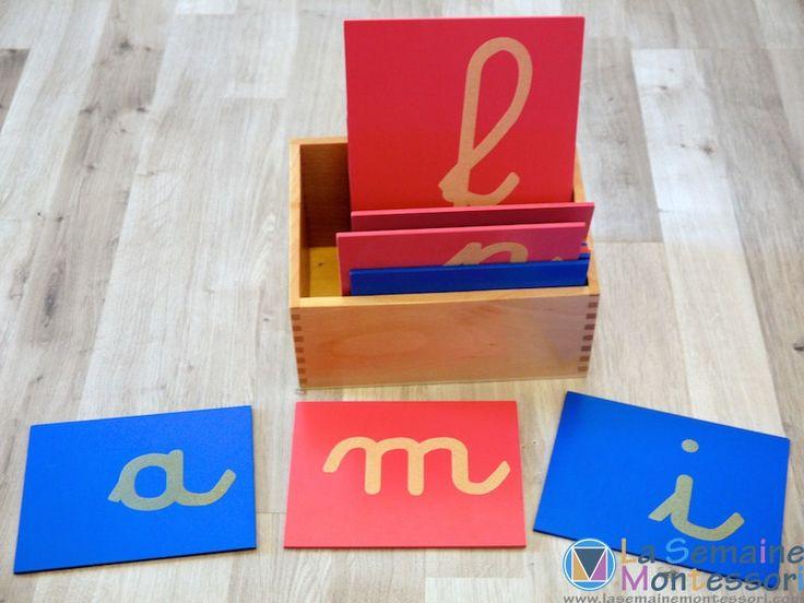 lettres rugueuses Montessori : fabrication et présentation