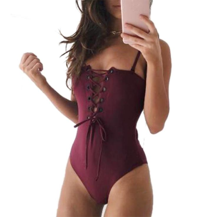 Bikinis Women 2017 One-piece Push Up Sexy Bandage Swimsuit Plus Size Bikini Hollow Swimwear Summer Beachwear  #Swimwear #Bikini #Bra #Bikinis #Swimsuit #Panties #TwoPiece #Crochet #OnePiece #LaceBikinis