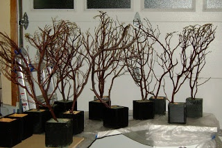 Manzanita Branch centerpiece w/DIY vase - cheap