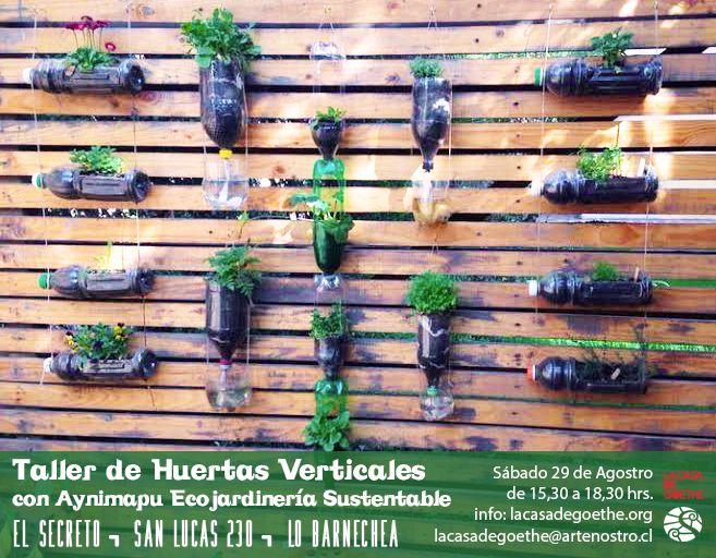 El sábado 29 esperamos a todos los deditos verdes para aprender a cultivar parados ;-) y así aprovechar TODOS los espacios cultivables, verdeando y sustentabilizando :-) + info en www.lacasadegoethe.org