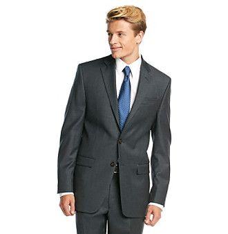 Lauren Ralph Lauren Men's Big & Tall Charcoal Solid Suit Separates