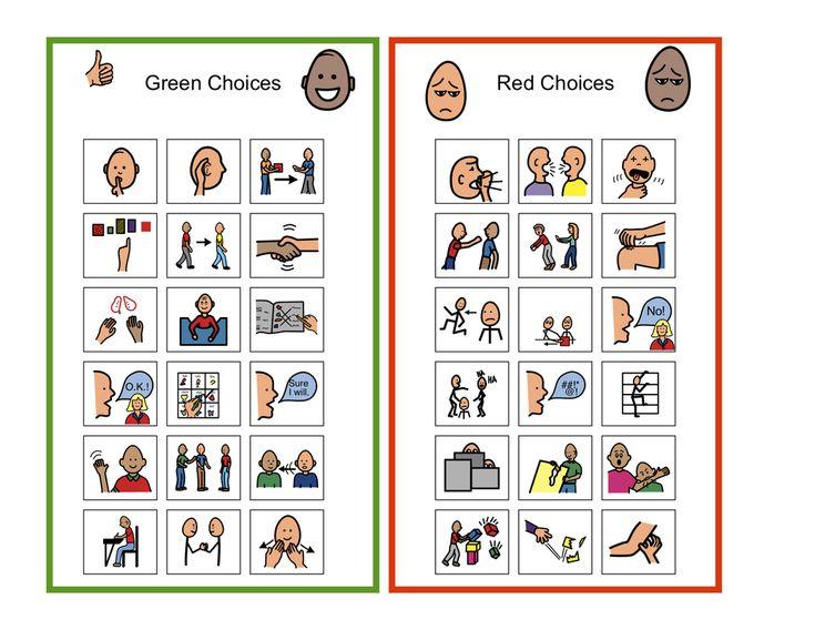 ( free download) Good vs Poor choices | Self-Management & Emotional/Behavioral - Victories 'N Autism