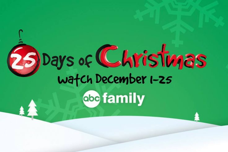 2015 - Here's The Full Movie Schedule For ABC Family's 25 Days of Christmas #Christmas