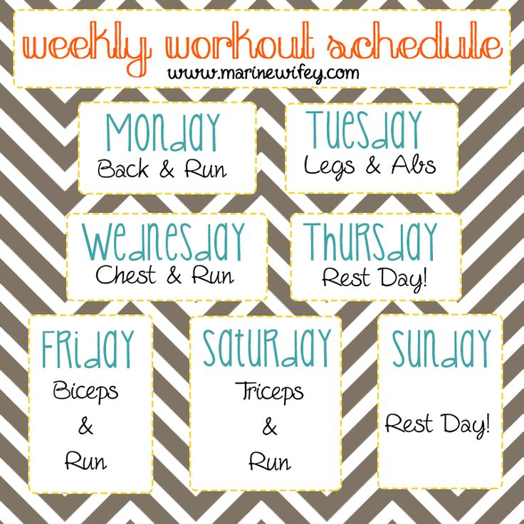 Best  Weekly Workout Schedule Ideas On   Weekly
