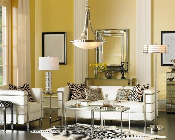 A glam urban living room | Transitional living room decor.