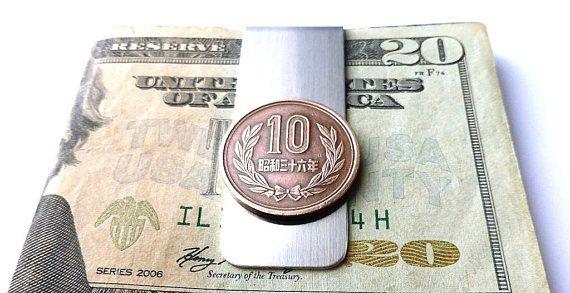 Japanese Coin money clip Men's gifts Men's